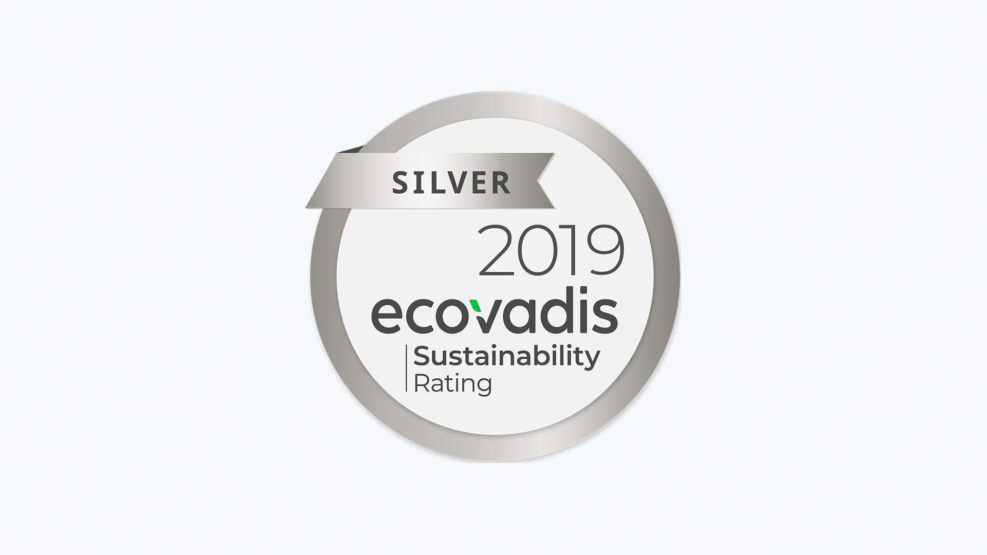 ecovadis silver award 2019